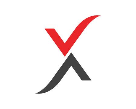 Conception d'icône symbole X lettre.