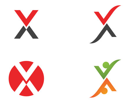 X letters for business icon and symbols template. Çizim