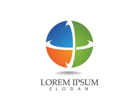 Business finance logo and symbols vector concept illustration Çizim