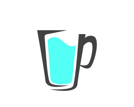 Drink juice icon and symbols template app illustration.