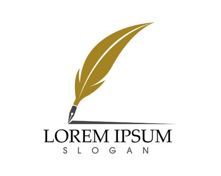 Pióro pióro pisać znak logo szablon ikony aplikacji