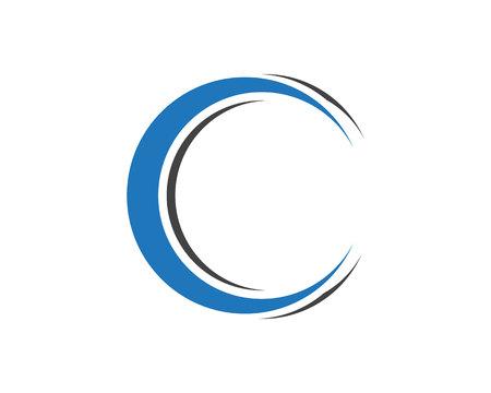 Letra 'C' logotipo modelo projeto vector
