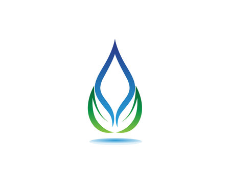 water drop Logo Template vector illustration design Ilustrace