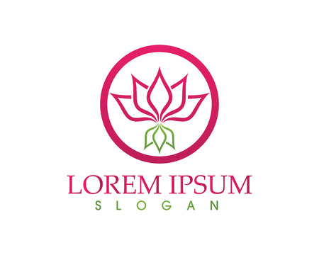 A Lotus Flower Sign for Wellness, Spa and Yoga Vector Illustration