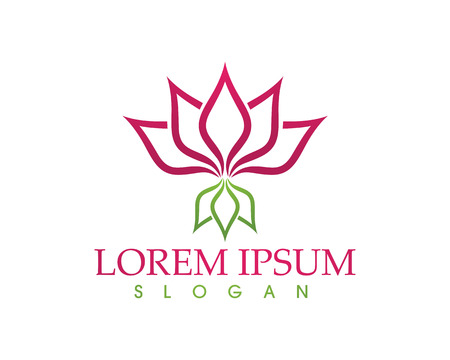 A Lotus Flower Sign for Wellness, Spa and Yoga