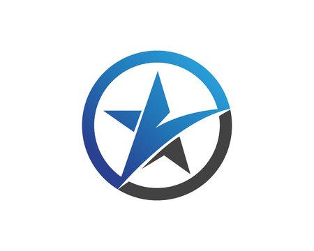 Star falcon Logo Template vector icons app
