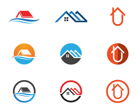Home logo and symbols template icons app Illustration
