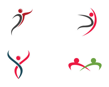 Health people logo and symbols template icons  Illusztráció