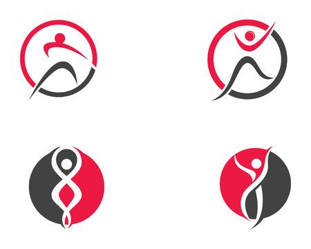 Health people logo and symbols template icons  Illusztráció