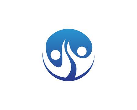 Health people care success logo and symbols