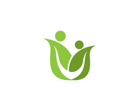 Family Flower Logo and symbol
