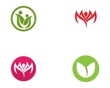 Family Flower icon and symbols Template icon Illustration