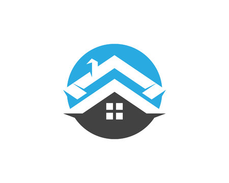 Real estate and home buildings logo design Illustration