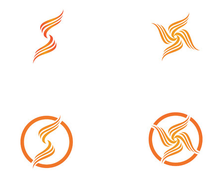 Fire flame nature logo and symbols icons template  Illustration