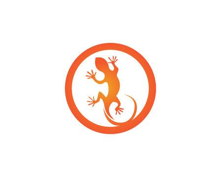Lizard animals logo and symbols vector temlate  イラスト・ベクター素材