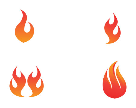 Fire symbol template icon.