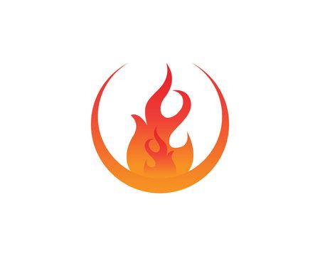 Fire logo and symbols template icon