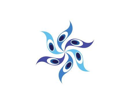 peacock head logo and symbols template icon app 일러스트