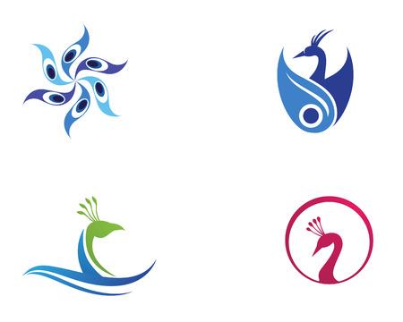 peacock head logo and symbols template icon app Illusztráció
