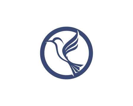 Hummingbird icon logo and symbols template vector Illustration