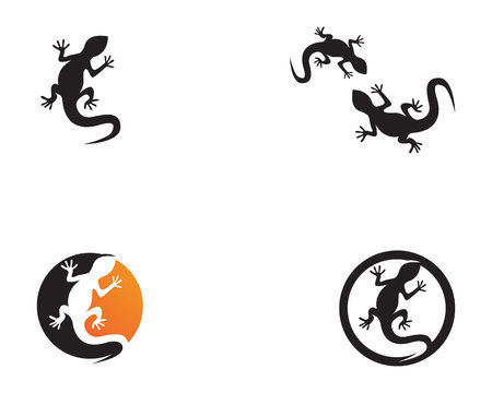 Lizard vector icon logo and symbols template