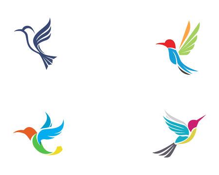 Hummingbird icon logo and symbols template vector Stock Illustratie