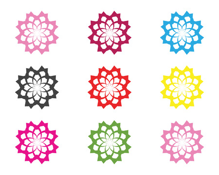 Flower Sign for Wellness, Spa and Yoga. Vector Illustration