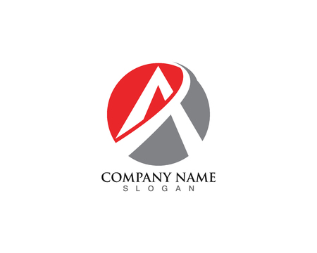 A Logo Business Template Vector icon Ilustracja