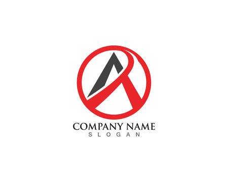 A Logo Business Template Vector icon Ilustrace