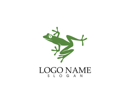 Frog green symbols icon and template design app illustration.