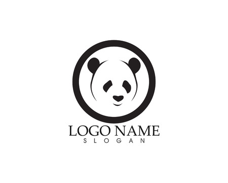 Panda logo and symbols template icons app
