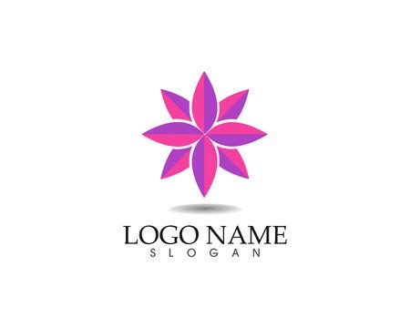 Flower sign for wellness, spa and yoga vector illustration. Illustration