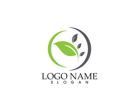 Green leaf ecology nature element vector icon illustration.