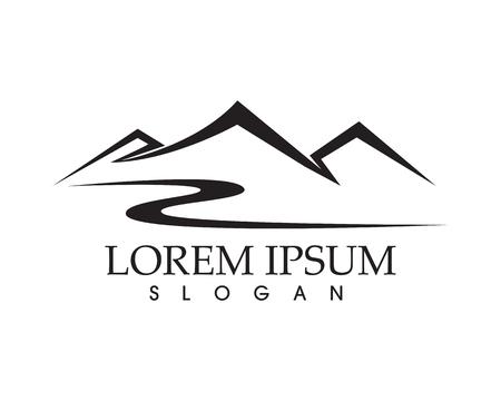 Mountain nature landscape  logo and symbols  icons Ilustrace