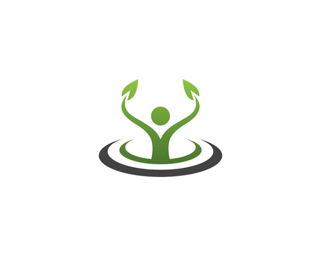 Health nature success people care logo and symbols template Vector illustration.
