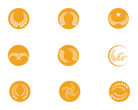 agriculture rice meal logo and symbols template icons Vector illustration.