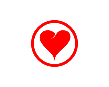 Love heart Logo and symbols Vector Template icons Ilustracja