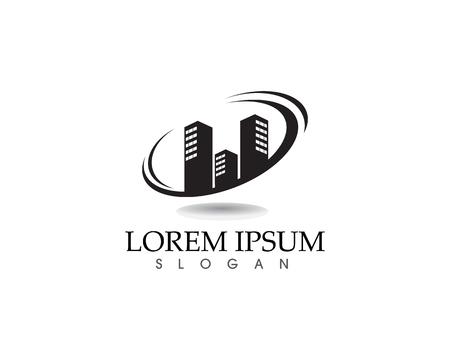 Home buildings logo and symbol icon template Illusztráció