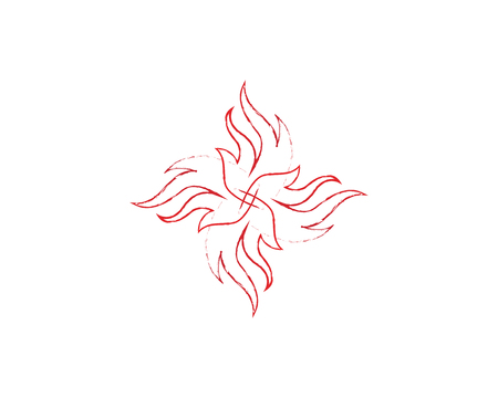 Fire flame nature logo and symbol icon template Illustration