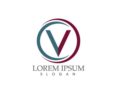 V letters business logo and symbols template Vector illustration. Illustration