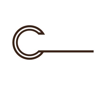 Vector de diseño de plantilla de icono de letra C.
