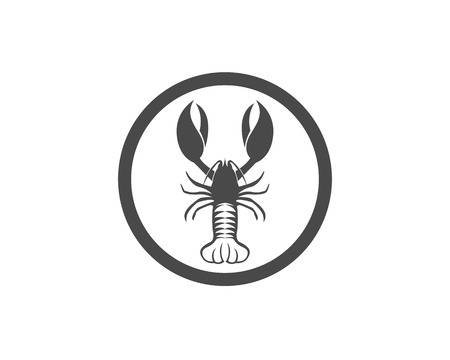 Icon crayfish. Lobster