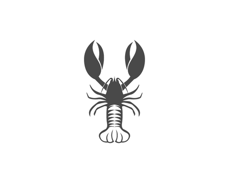 Icon crayfish Lobster isolated on plain background Stock Vector - 98550914