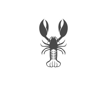 Icon crayfish Lobster isolated on plain background