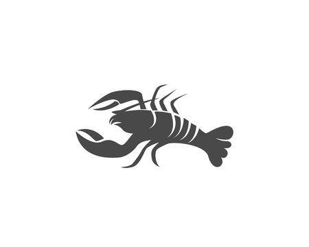A crayfish icon Lobster isolated on plain background Illustration