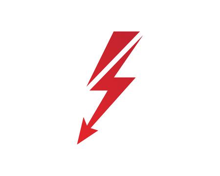 A lightning icon logo and symbols isolated on plain background Illustration