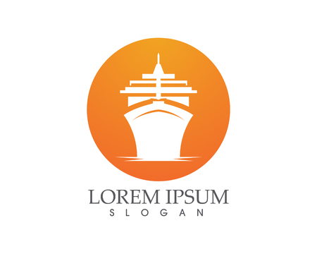 Ship filled outline icon transport and boat vector image Illustration