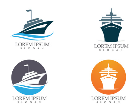 Ship outline icon set template