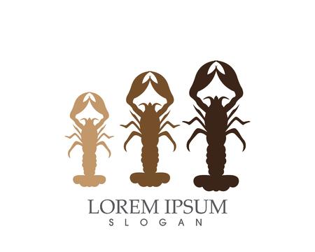 Icon crayfish lobster.