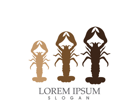 Icon crayfish lobster.